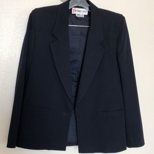 Classic navy wool suit